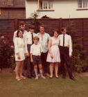 Frank's children in the  back garden in 1970