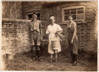 Summer 1942 Crockstead, Phil Starnes left, Land Army Girl middle, Nellie right.