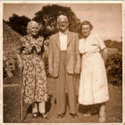 From left to right Ada Cottingham (Nellie's Mum), Frank Penfold and Lizzie Penfold (Ada's sister Nellie's Aunt)