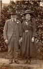 Richard Pratt, Elizabeth Pratt (Banks) 2nd wife at wedding 8th April 1925""